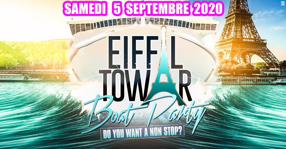 Eiffel Tower boat party